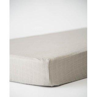 Little Unicorn Warm Grey Cotton Muslin Crib Sheet