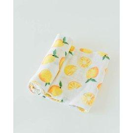 Little Unicorn Lemon Cotton Muslin Swaddle