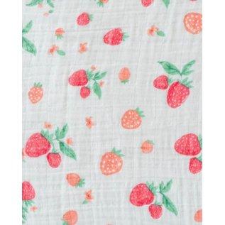 Little Unicorn Strawberry Cotton Muslin Swaddle