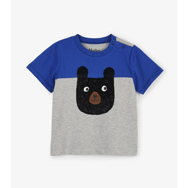 Hatley Colour Block Bear Baby T