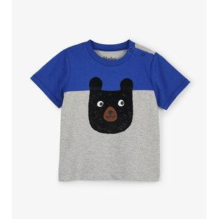Hatley Colour Block Bear Baby T