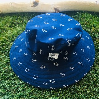 Navy Anchor Sunbaby Hat