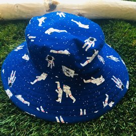 Puffin Gear Navy Astronaut Sunbaby Hat