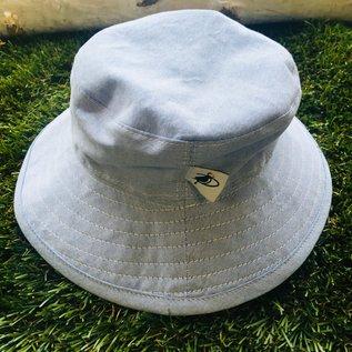 Puffin Gear Blue Cotton Oxford Sunbaby Hat