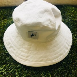 Puffin Gear White Cotton Oxford Sunbaby Hat