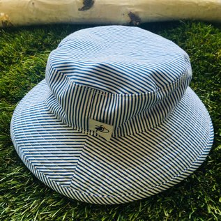 Puffin Gear Blue Natty Stripe Sunbaby Hat
