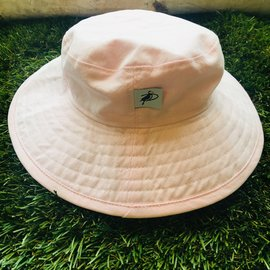Puffin Gear Pink Cotton Oxford Sunbaby Hat