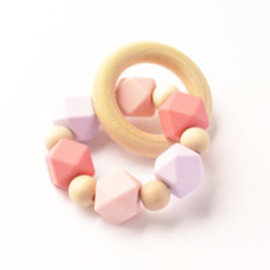 Lilacs Hexi Teething Ring