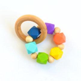 Vivid Hexi Teething Ring