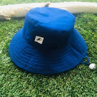 Puffin Gear Navy Organic Cotton Solid Sunbaby Hat