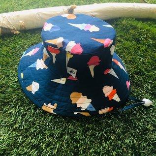 Puffin Gear Navy Ice Cream Sunbaby Hat