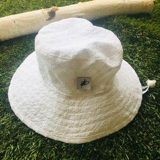Puffin Gear White Eyelet Sunbaby Hat