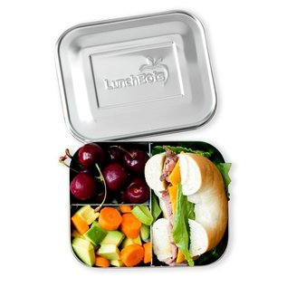 Lunchbots Orange Trio 2 Stainless Bento Lunch Box