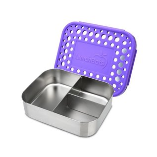 Lunchbots Purple Trio 2 Stainless Bento Lunch Box