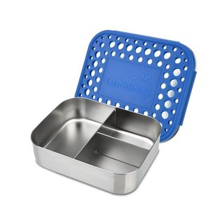 Lunchbots Blue Trio 2 Stainless Bento Lunch Box