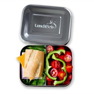 Lunchbots Green Duo Stainless Bento Lunch Box
