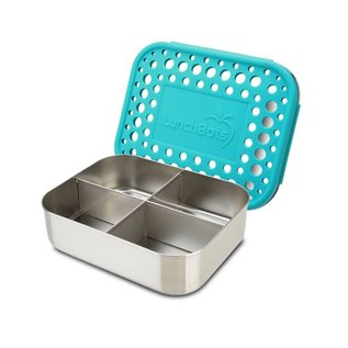 Lunchbots Aqua Quad Stainless Bento Lunch Box