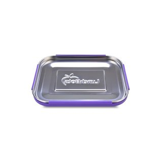 Lunchbots Purple Quad Stainless Bento Lunch Box