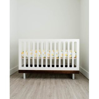 Little Unicorn Lemon Cotton Muslin Crib Sheet
