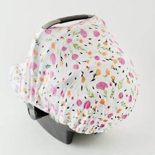 Little Unicorn Berry & Bloom Muslin Car Seat Canopy