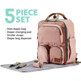 Soho Collections Pink Daily Essential Backpack Diaper Bag