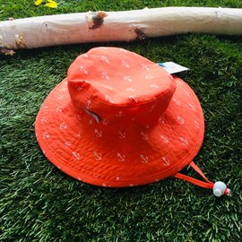 Puffin Gear Orange Anchor Sunbaby Hat