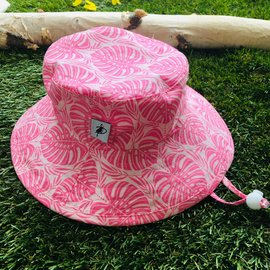 Puffin Gear Pink Tropical Palm Sunbaby Hat