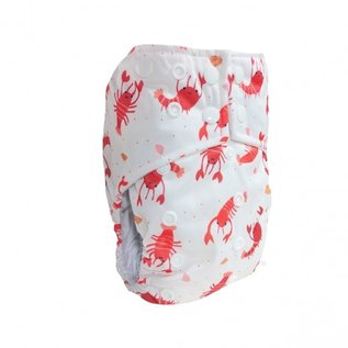 La Petite Ourse One-Size Snap Pocket Diaper, Lobster