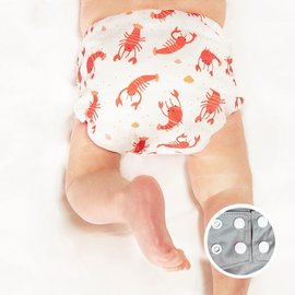 La Petite Ourse Lobster One-Size Snap Pocket Diaper