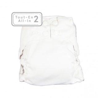 La Petite Ourse One-Size Snap Diaper, AI2 White