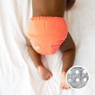 La Petite Ourse One-Size Snap Diaper, AI2 Coral