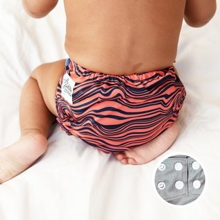 La Petite Ourse One-Size Snap Diaper, AI2 Waves