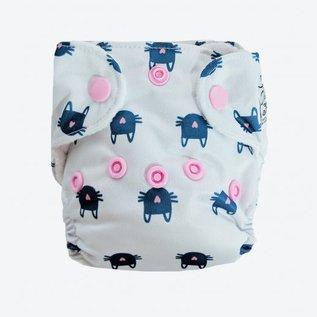 La Petite Ourse Newborn Cloth Diaper - Whiskers