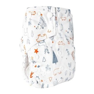 La Petite Ourse One-Size Snap Pocket Diaper, The Enchanted Forest