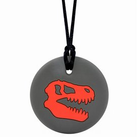 Munchables Red Dino Skull Chewable Necklace