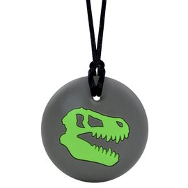 Munchables Green Dino Skull Chewable Necklace