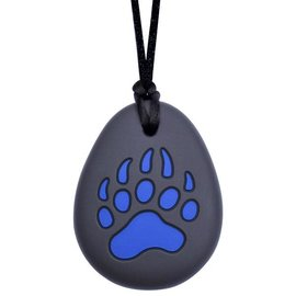 Munchables Blue Bear Paw Chewable Necklace