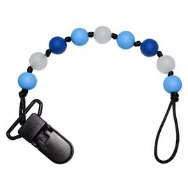 Munchables Blue Glow-in-the-dark Pacifier Clip