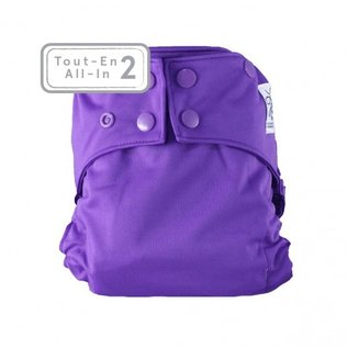 La Petite Ourse One-Size Snap Diaper, AI2 Purple