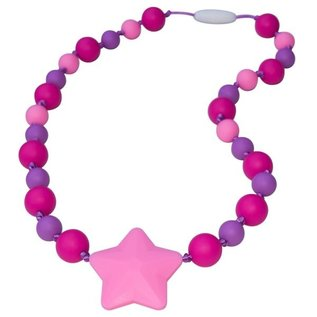 Munchables Fuchsia Purple Pink Starlight Chewable Necklace