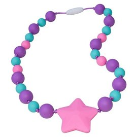 Munchables Purple Aqua Pink Starlight Chewable Necklace