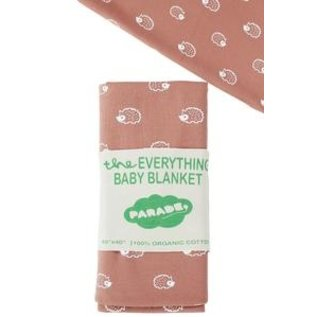 Parade Organics Coral Hedgehogs 'Everything' Blanket