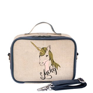 SoYoung Lucky Unicorn Raw Linen Lunchbox