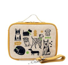 Wee Gallery Pups Raw Linen Lunchbox