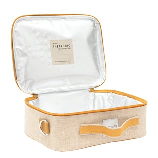 SoYoung Wee Gallery Pups Raw Linen Lunchbox