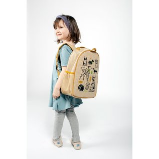 SoYoung Wee Gallery Pups Raw Linen Toddler Backpack