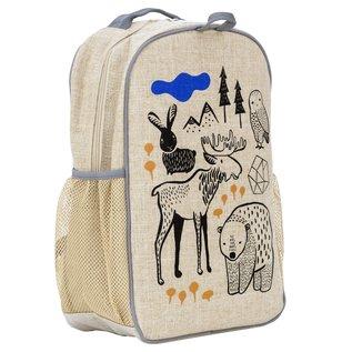 SoYoung Wee Gallery Nordic Raw Linen Gradeschool Backpack