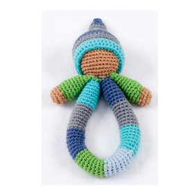 Pebble Blue Pixie Rattle Ring