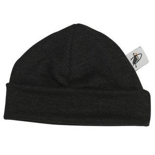 Puffin Gear Black Organic Cotton Jersey Beanie