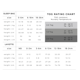 Kyte Baby Azure Bamboo Sleep Bag, 0.5 TOG